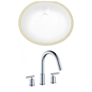 Look for CUPC Ceramic Oval Undermount Bathroom Sink with Faucet and Overflow By American Imaginations