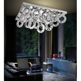 Orren Ellis Bacon 90-Light LED Flush Mount