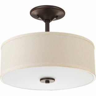 Great Price Greenwell 1-Light LED Semi Flush Mount By Three Posts