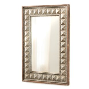 Bungalow Rose Buckles Metal Stud Portrait Accent Mirror