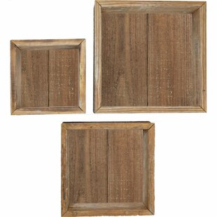 Gracie Oaks Parham Vintage Farmhouse Shadow Box 3 Piece Wall Shelf Set