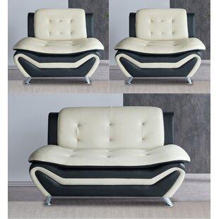 Vizcarrondo 3 Piece Living Room Set by Orren Ellis