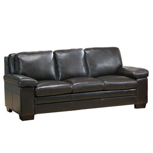 Devry Leather Sofa by World Menagerie