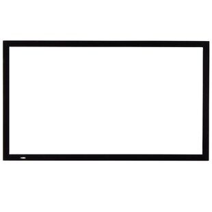 Compare prices White 100 Fixed Frame Projector Screen By VonHaus