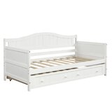Snowcreek Twin Solid Wood Daybed with Trundle by Red Barrel Studio®