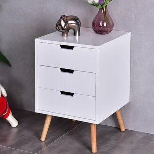 Rehoboth 3 Drawers Mid-Century End Table with Storage
