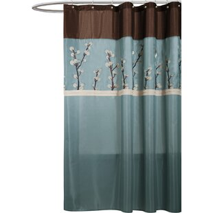 Kozak Embroidered Single Shower Curtain