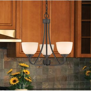 Kepner 3-Light Shaded Chandelier by Winston Porter