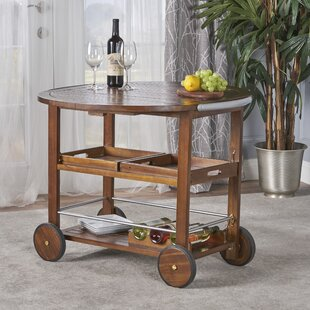 Porsha Wood Bar Cart by Ba..
