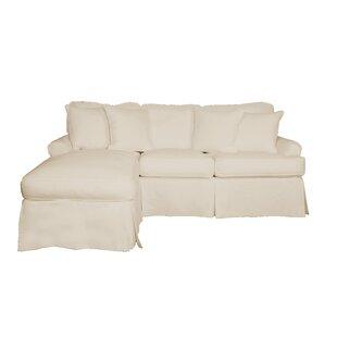 Huguley T-Cushion Sofa and Chaise Lounge Slipcover
