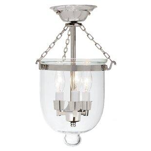 Silver bell jar lighting wayfair save aloadofball Image collections