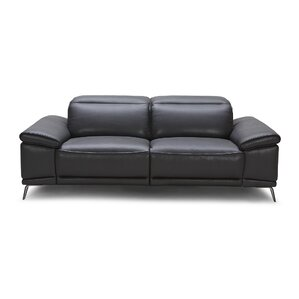 Carnegie Leather Reclining Loveseat by Wade ..