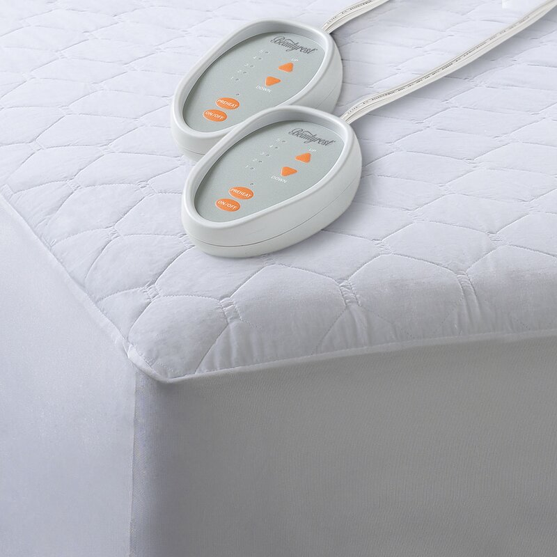 cotton blend heated mattress pad by beautyrest