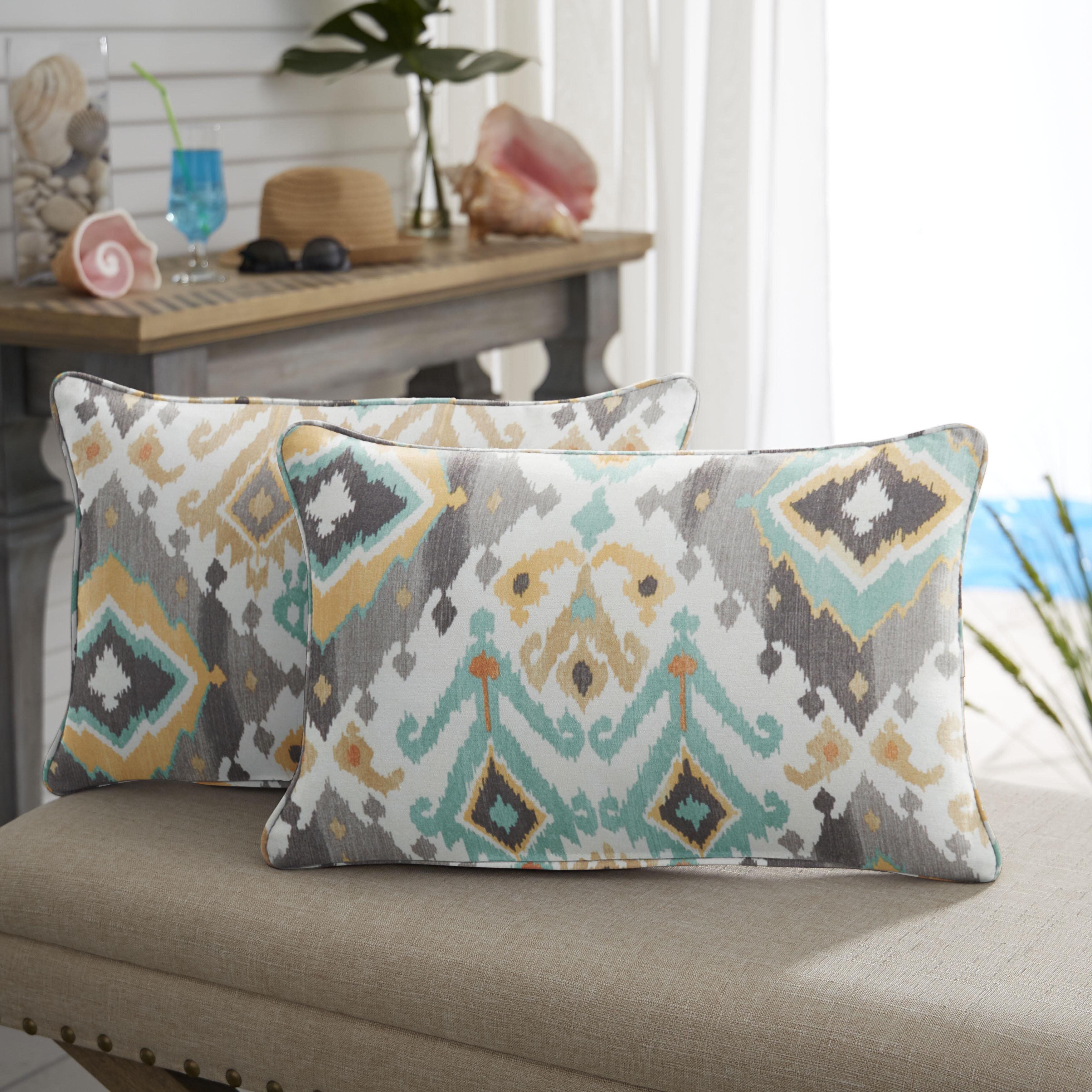 Bungalow Rose Briget Indoor Outdoor Lumbar Pillow Reviews Wayfair