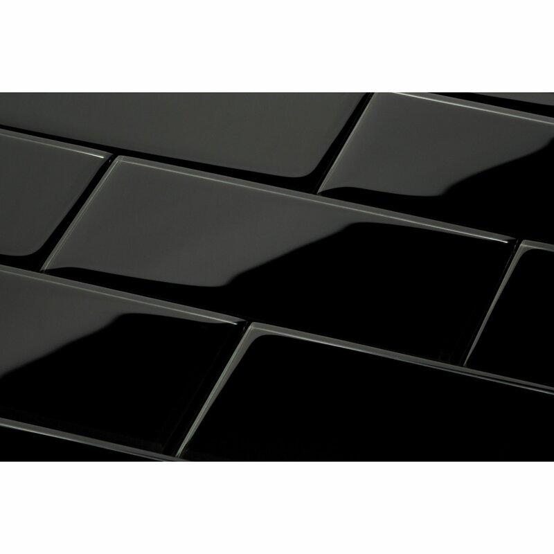 3 X 6 Gl Subway Tile In Black