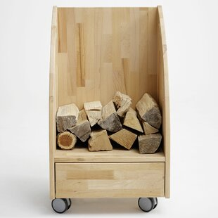Brittany Solid Wood Firewood Storage Cart By Gracie Oaks