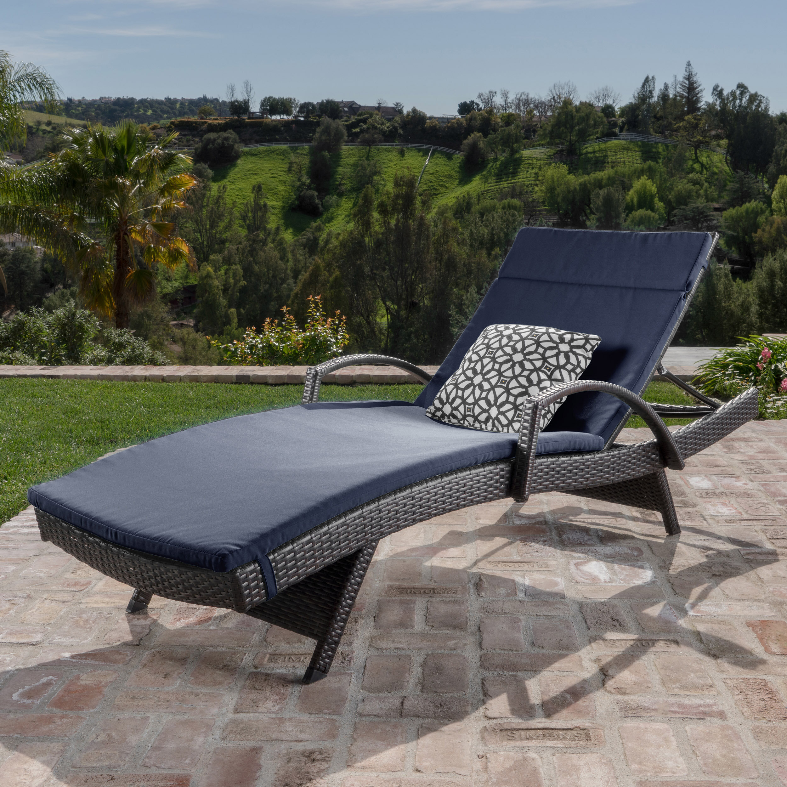 Sol 72 Outdoor Rebello Traditional Chaise Lounge With Cushion Reviews Wayfair