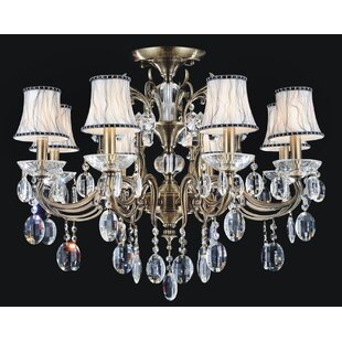 Astoria Grand Combs 8-Light Semi Flush Mount
