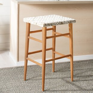 Blake Woven Leather 30 Bar Stool Bungalow Rose