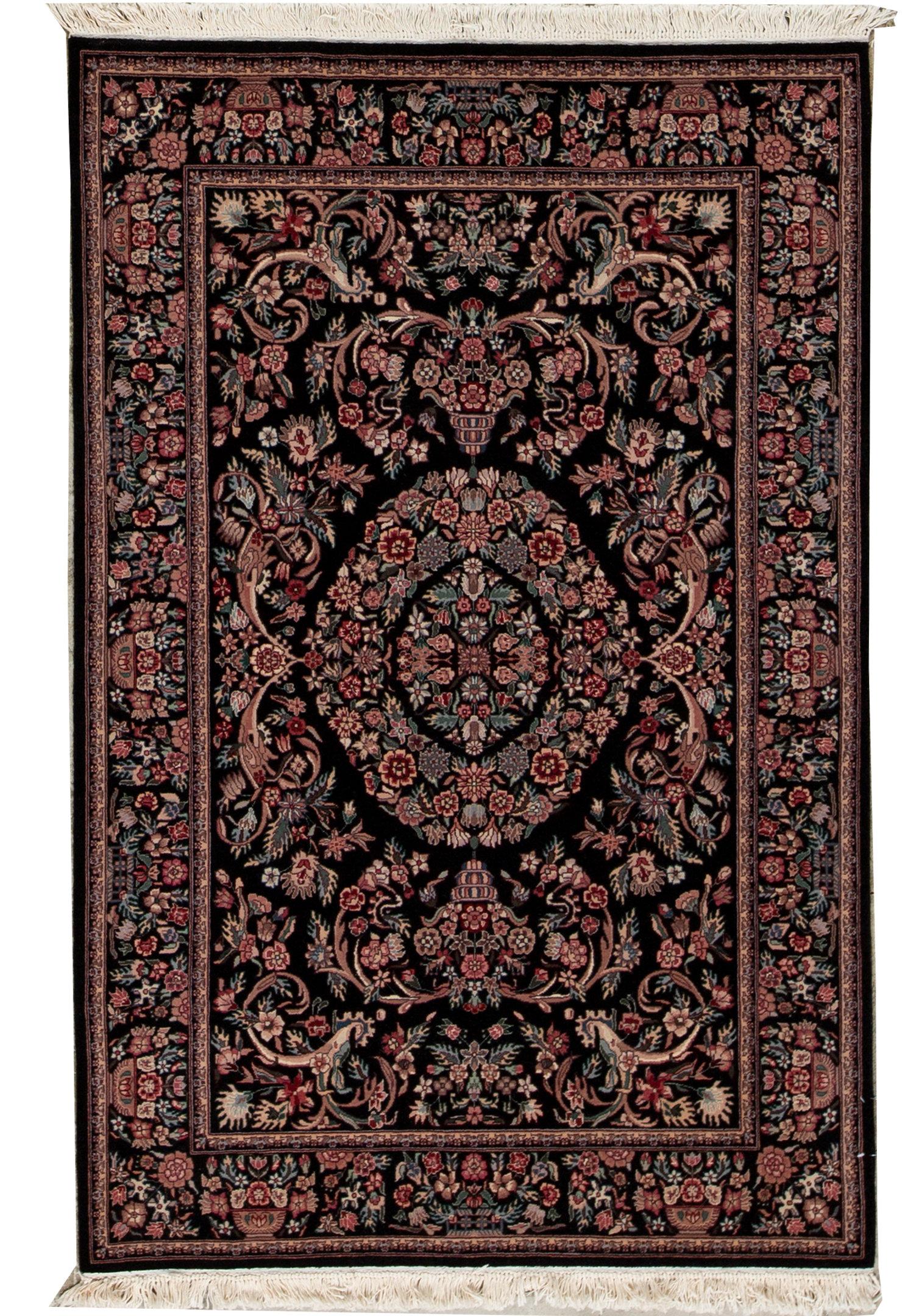 Bokara Rug Co Inc Shah Oriental Hand Knotted Wool Plum Black Area Rug Wayfair