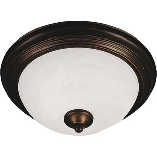 Charlton Home Atterbury 1-Light Flush Mount