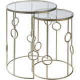 Rosenberger 2 Piece Nesting Tables by Everly Quinn