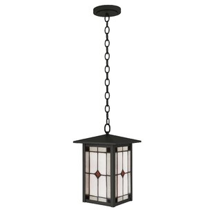 Deals Arthur 1-Light Outdoor Hanging Lantern By Loon Peak