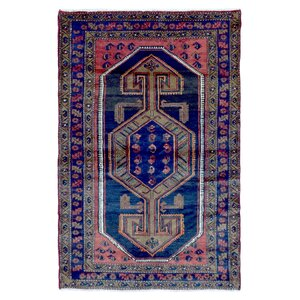 Adalaide Persian Antique Hamadan Oriental Hand Woven Wool Blue/Green Area Rug