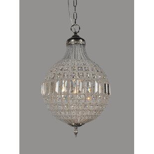 Bungalow Rose Dyanna 1-Light Crystal Pendant
