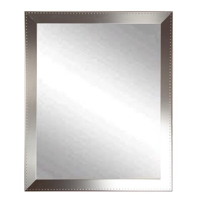 BrandtWorksLLC Embossed Steel Modern & Contemporary Wall Mirror Size: 48.5 H x 30.5 W x 0.19 D