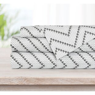 3 Piece Print Knit Chevron Sheet Set