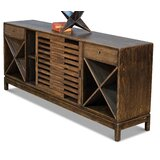 Elsner 77 Wide 2 Drawer Pine Wood Sideboard by Loon Peak®