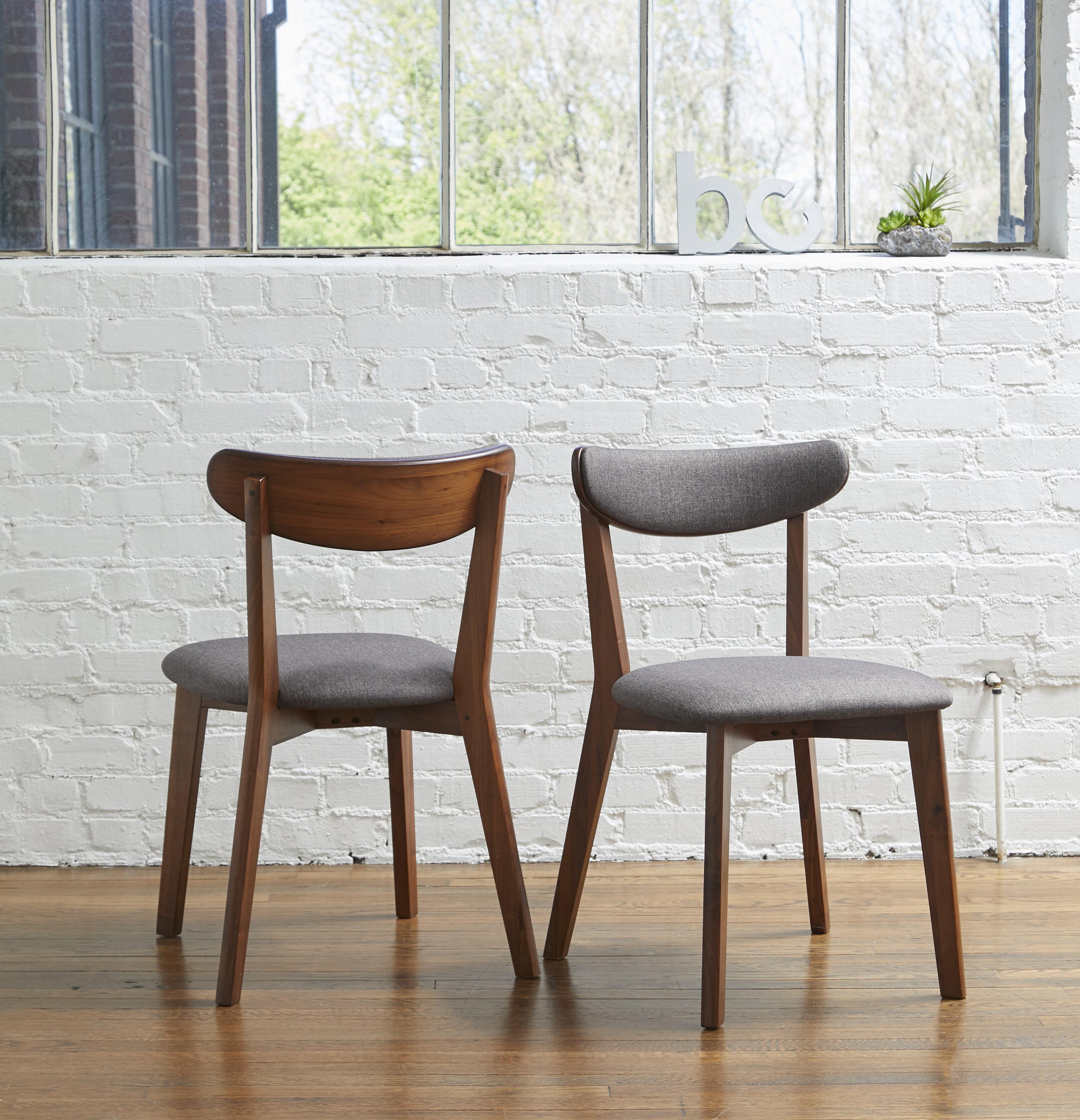 Corrigan Studio Clayborn Upholstered Side Chair In Light Gray Reviews Wayfair