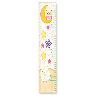 Kleckner Owl On The Moon Stars And Sheep Growth Chart