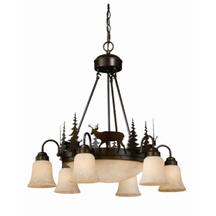 Ponte 9-Light Shaded Chandelier By Loon Peak