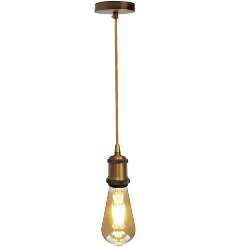 Fabian 1 - Light Bulb Pendant Borough Wharf Finish: Yellow B