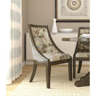 Rawley Industrial Floral Upholstered Dining Chair August Grove