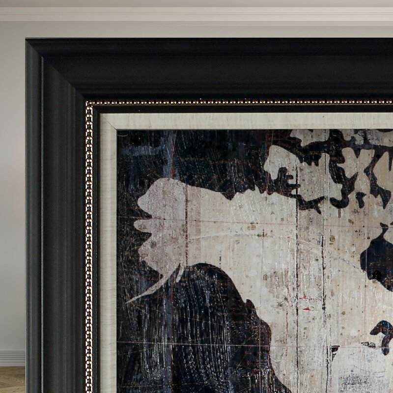 Old world map blue framed graphic art on wrapped canvas reviews old world map blue framed graphic art on wrapped canvas gumiabroncs Images