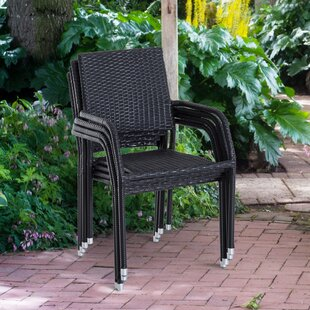 Castor Stacking Patio Dining Chair (Set of 4)