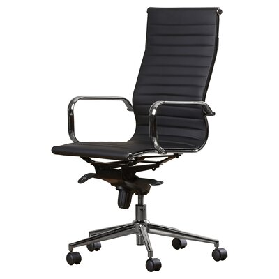 Brayden Studio Kingston Desk Chair Upholstery: Black