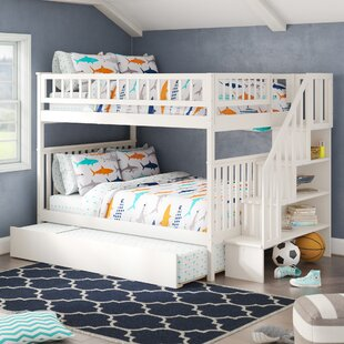 Shyann Staircase Full Over Full Bunk Bed with Trundle by Viv  Rae