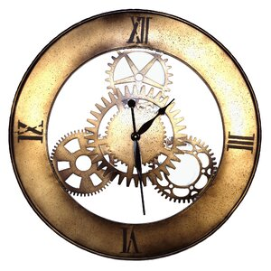 Geko Oversized 76cm Metal Wall Clock