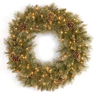 60.96cm Lighted Pine Wreath By The Seasonal Aisle