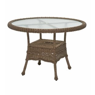 Plow & Hearth Prospect Hill Round Outdoor Wicker Dining Table