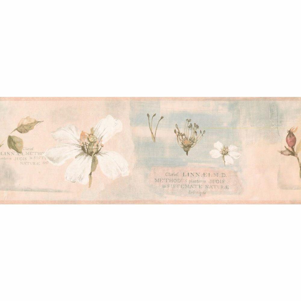 August Grove Mair Floral 15 L X 7 W Wallpaper Border Wayfair