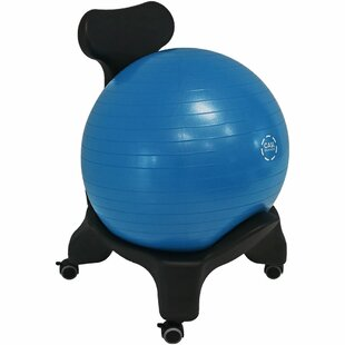 Symple Stuff Knorr Yoga Balance Ball Chair with 52-Centimeter Stability Ball and Pump