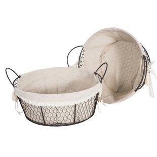 Textile Metal 2 Piece Basket Set By Brambly Cottage