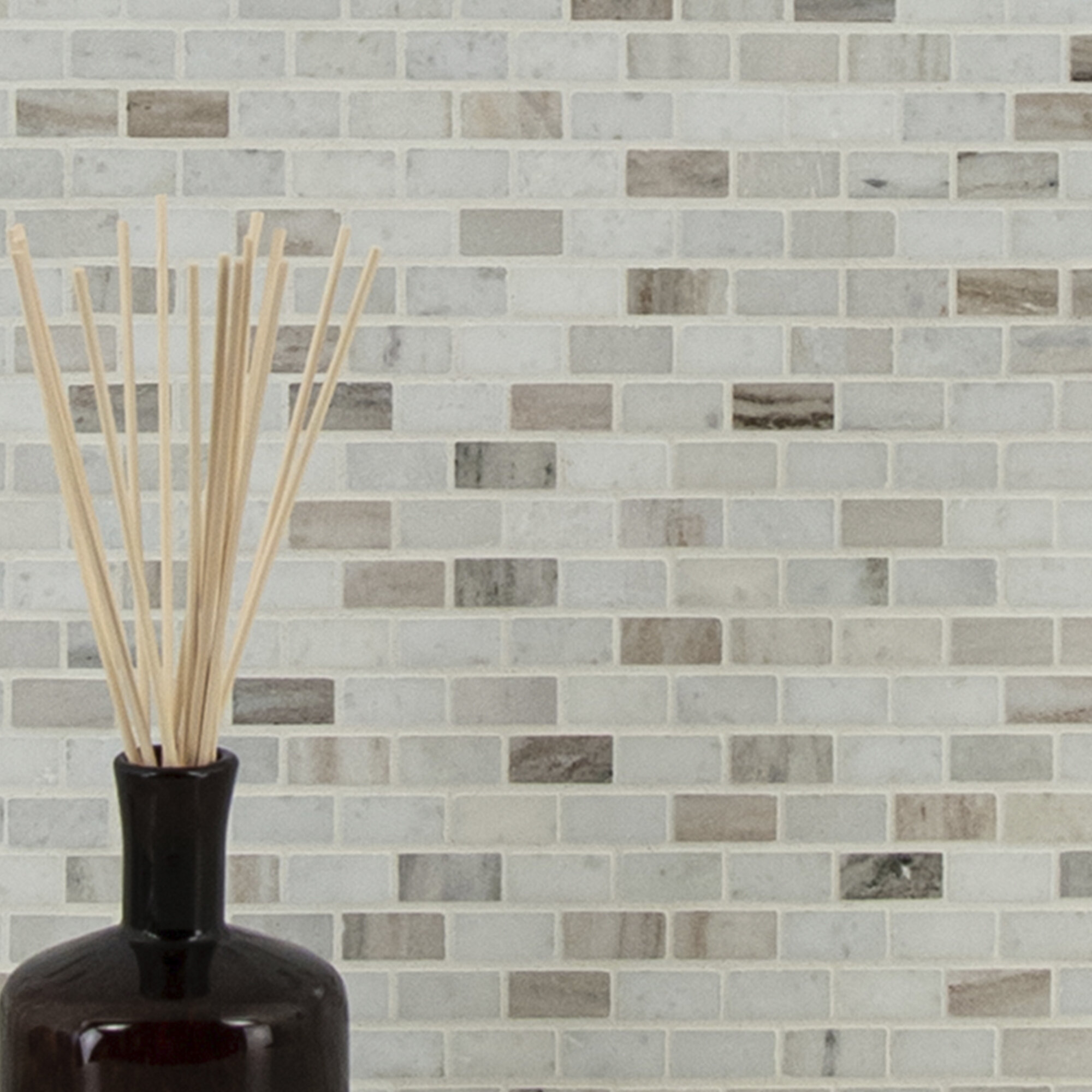 - MSI Palisandro Pol Marble Mosaic Tile In Gray/Beige & Reviews