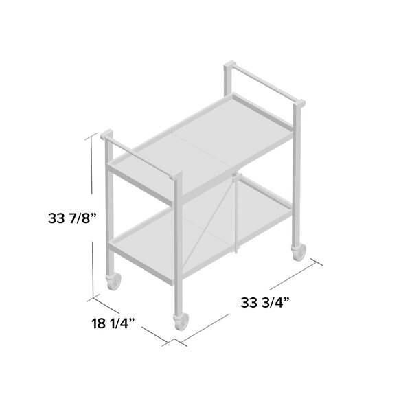 Trevia Folding Bar Cart