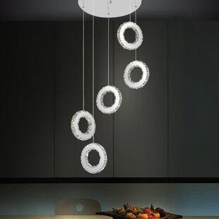 Orren Ellis Bacon 30-Light LED Cascade Pendant